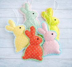 Easter bunny set Easter decor Easter gift First Easter Felt ornaments Kids Easter Happy Easter Stuffed rabbits Gift for kids Easter basket Easter toy Easter decorations Cute bunny These funny Easter bunnies are cute felt ornaments for a festive time. Perfect for a stylish Easter