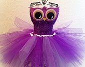 Purple Owl Tutu Dress (NB-4T)