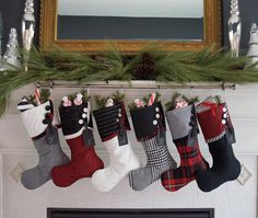 POST Christmas Delivery - Christmas Stockings in Black & White and Red all Over - No Joke, they are stunning!