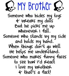 sibling quotes and sayings | Brother Skulls Graphics, Wallpaper, & Pictures for Family Brother ...