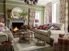 Crazy european cottage living room made easy Living Room Red, Cottage Living Rooms, Coastal Living Rooms, Cottage Interiors, Home And Living, Living Room Furniture, Living Room Decor, English Living Rooms, Furniture Layout