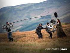 It is not everyday that I will make one post about one behind the scenes photo, but this is a special one. Starz shared this photo on Instagram and Facebook of Caitriona Balfe shooting a scene for…