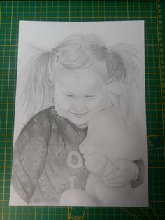 Sweet girl drawing