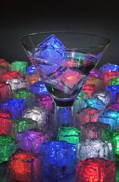 LiteCubes cool down drinks without diluting them. They also light up in 8 different colors. GetdatGadget.com/litecubes-led-ice-cubes/