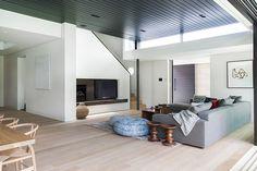 Mosman House by Tanner Kibble Denton Architects Likes -wood floors -big brown door