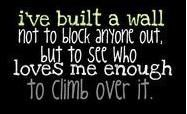 finally an answer to when people get onto me about my wall, as if I have to explain it to anyone!