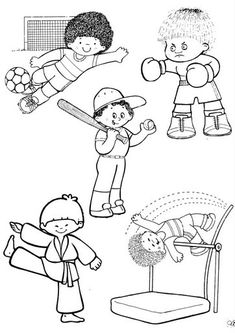 Super sport kids clipart coloring pages Ideas Colouring Pics, Coloring Pages For Kids, Coloring Sheets, Coloring Books, After School Care, Picture Composition, Islam For Kids, Preschool Music, Basic Drawing