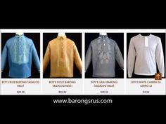 Chinese Barong Tagalog for Boys from Barongs R us