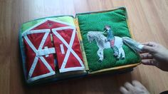 Hand crafted baby quiet book -for horse rider / equestrian - Made by Darina Scepkova......... Rucne robena detska knizka pre milovnika koni