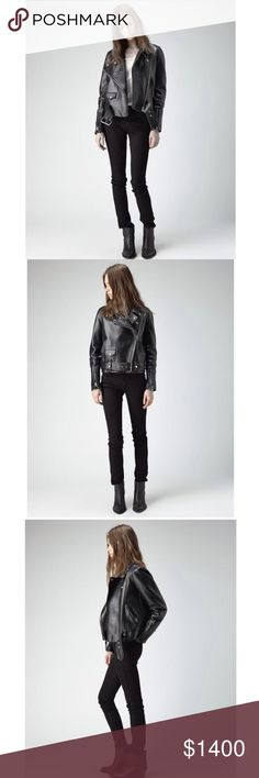 Acne Studios black Leather asymmetric Moto Jacket More info and pics on my Tradesy listing! ---------------- For discounts and FREE shipping, buy this from my Tradesy closet. ➕https://www.tradesy.com/closet/leslielove/ Acne Jackets & Coats