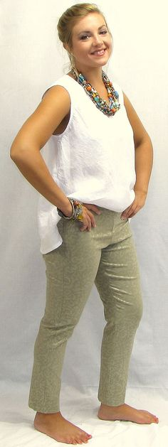 Krazy Larry Pull On Pant Taupe Animal