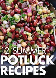 12 healthy, mayo-free potluck dishes for July 4th! #vegetarian recipe roundup by @cookieandkate