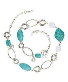 Another great find on #zulily! Turquoise & Silver Naomi Eyeglass Chain Necklace #zulilyfinds