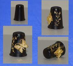 Felix Morel Black Butterfly Thimble | eBay