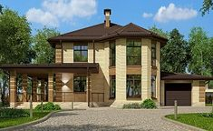 Проект дома C-222M - Проекты домов и коттеджей в Москве Gazebo, Pergola, Outdoor Structures, Cabin, How To Plan, Mansions, Luxury, House Styles, Projects