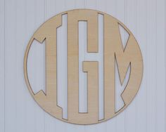 24 Wooden Monogram Unpainted Natural Circle by GoodWorksDesignCo