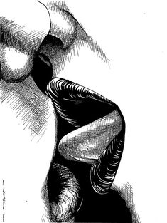 Art Discover The Kiss by Richard Larson Kiss Drawing - The Kiss by Richard Larson Sexy Drawings, Art Drawings Sketches, Art Lesbien, Kissing Drawing, Images Emoji, Cute Couple Art, Exotic Art, Lesbian Art, Love Art