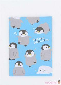 kawaii blue mini envelope with grey penguin pocket Small Envelopes, Paper Envelopes, Japanese Stationery, Letter Set, Cute Designs, Sketchbooks, Penguins, Super Cute, Kids Rugs
