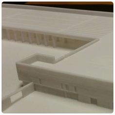 """Our customer from Masiv Bygg #3D printed #architectural model of buss terminal. """"We chose a #3dprint because we wanted to give the #builder a little #attention . #3dprintedmodel is much better to #promote while regular (paper made) 3D #visualization can be quickly destroyed."""" ______________ #architecture #masivbygg #architects #stavanger #3dvisualization #3dprinting #design #creative #instagood #photooftheday by simplify3d.no"""