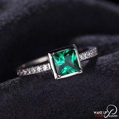 May Birthstone Emerald Ring