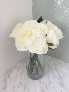 Excited to share the latest addition to my #etsy shop: Ivory White Rose Artificial Fake Flower Arrangement With Glass Vase Centrepiece Home Interior Decor Party Summer Decor Floral Silk House Ivory Roses, White Roses, Artificial Flower Arrangements, Artificial Flowers, Tree Of Life Necklace, Vase Centerpieces, Summer Parties, Fake Flowers, Ivory White