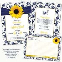 sunflower invite