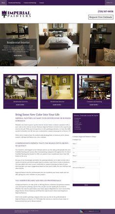 WordPress site imperialpaintersco.com uses the Beacon Theme: Austin wordpress website template