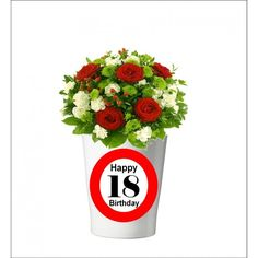 131 -  Geburtstagsgeschenk 18 Pflanzentopf ohne Pflanze Happy 20th Birthday, Happy 30th, 30th Birthday, Mugs, Tableware, Plants, Gifts, Dinnerware, Tumbler