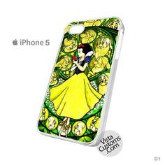 Snow White Disney Princess Glass Painting Phone Case For Apple, iphone 4, 4S, 5, 5S, 5C, 6, 6 +, iPod, 4 / 5, iPad 3 / 4 / 5, Samsung, Galaxy, S3, S4, S5, S6, Note, HTC, HTC One, HTC One X, BlackBerry, Z10