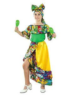 Disfraz Rumbera caribeña Mujer - Talla única M -- Disfraz de Rumbera ... d4689267639