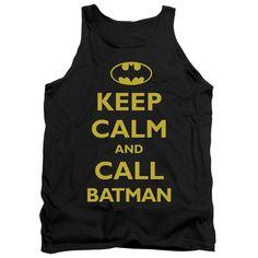 Batman/Call Batman Adult Tank in