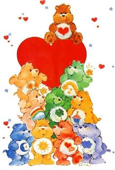 """Care Bears! I had Cheer Bear when I was a kid... Hunter had Grumpy Bear (because he wanted a blue one), and Claire had Wish Bear (or """"Wush"""" Bear, as she called it)."""