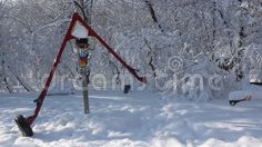 Video about Children s playground in the park covered by snow. Video of children, landscape, playground - 65413815 Playground Design, Children Playground, Snow, Stock Photos, Landscape, Park, Cover, Winter, Nature