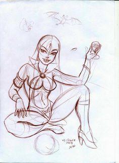 M. Roger Arte: Vampirella - Esboço