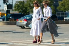 A White Button-Down Goes A Long Way- HarpersBAZAAR.com