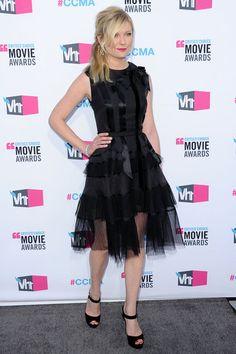 Kirsten Dunst in Dior. 2012 Critics' Choice Awards