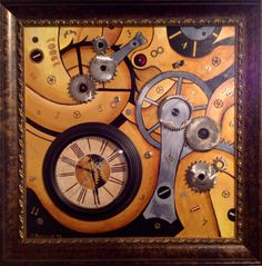 This mixed medium oil painting by Kim Fergusson is exquisite! 'The Order Of Time' is just in time for the new year.