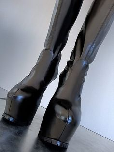 1969 knee high leather platform boots with lug soles 05