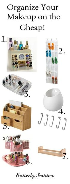 Makeup organization ideas collage