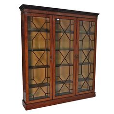 English Edwardian Vitrine / Bookcase, circa 1900 | From a unique collection of antique and modern bookcases at https://www.1stdibs.com/furniture/storage-case-pieces/bookcases/