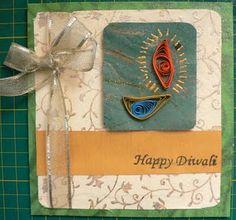 Diwali Card - Quilling