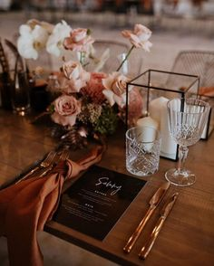 wedding inspo Like the height of the table decorations. May be a little too much on the table, flower-wise, though Autumn Wedding, Rustic Wedding, Our Wedding, Wedding Venues, Dream Wedding, Wedding Table Decorations, Wedding Table Settings, Fall Wedding Table Decor, Fall Table