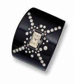 Art Deco Gold, Platinum, Diamond, Onyx and Enamel Bracelet-Watch, Cartier, Paris - Sotheby's
