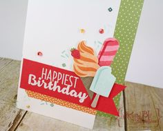 Cool Treats Birthday Card.  Stampin' Up 2017 Occasions Catalog Sneak Peek #imbringingbrithdaysback