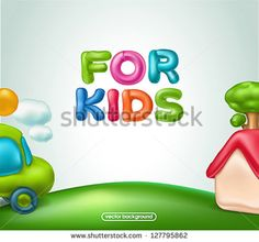 For kids background - stock vector
