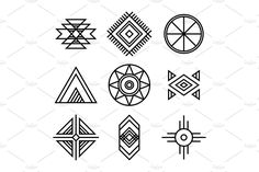 Native American Indians Tribal Symbols by Lianella's Shop on Native Symbols, Indian Symbols, Tribal Symbols, Mayan Symbols, Viking Symbols, Egyptian Symbols, Viking Runes, Ancient Symbols, Celtic Tribal