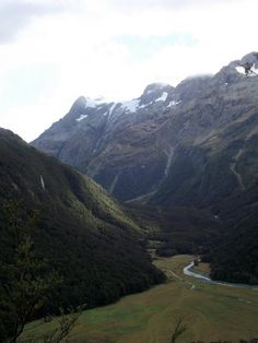 A beautiful Valley on the Routeburn Great Walk, New Zealand