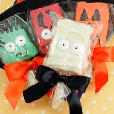 Halloween Rice Krispie Treats | Halloween Character Rice Krispy Treat Pops | Halloween