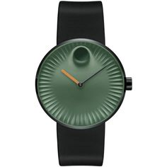 Movado Edge Green Dial Ladies Watch ($446) ❤ liked on Polyvore featuring jewelry, watches, quartz movement watches, analog wrist watch, dial watches, stainless steel jewellery and movado