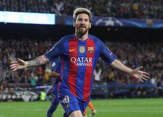 Messi celebra el gol ante el City